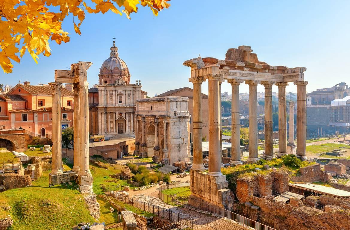 Stadt Rom und Forum Romanum